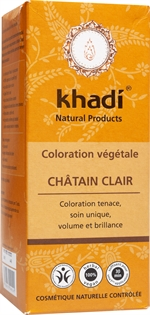 KHADI Herbal hair colour, light brown | Colorations pour cheveux