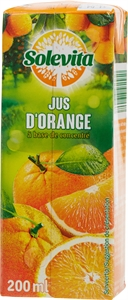 SOLEVITA (LIDL) Jus d'orange à base de concentré - 200ml