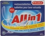 KRUIDVAT ALL IN 1 TABLETTES LAVE-VAISSELLE | test KRUIDVAT ALL IN 1 TABLETTES LAVE-VAISSELLE - Test Achats