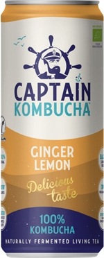 CAPTAIN KOMBUCHA Ginger lemon